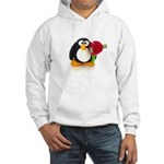 Clay Penguin with Rose Hooded Sweatshirt