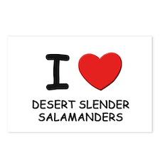 I love desert slender salamanders Postcards (Packa