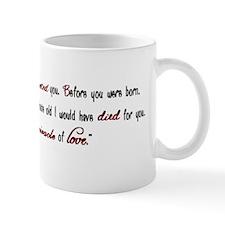 before you were concieved Mug