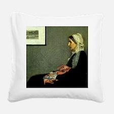 mother tiger lap copy Square Canvas Pillow