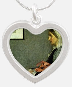 mother tiger lap copy Silver Heart Necklace