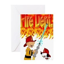 1firedept4flames Greeting Card
