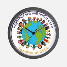 Together_world_blk Wall Clock