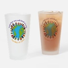 Together_world_blk Drinking Glass