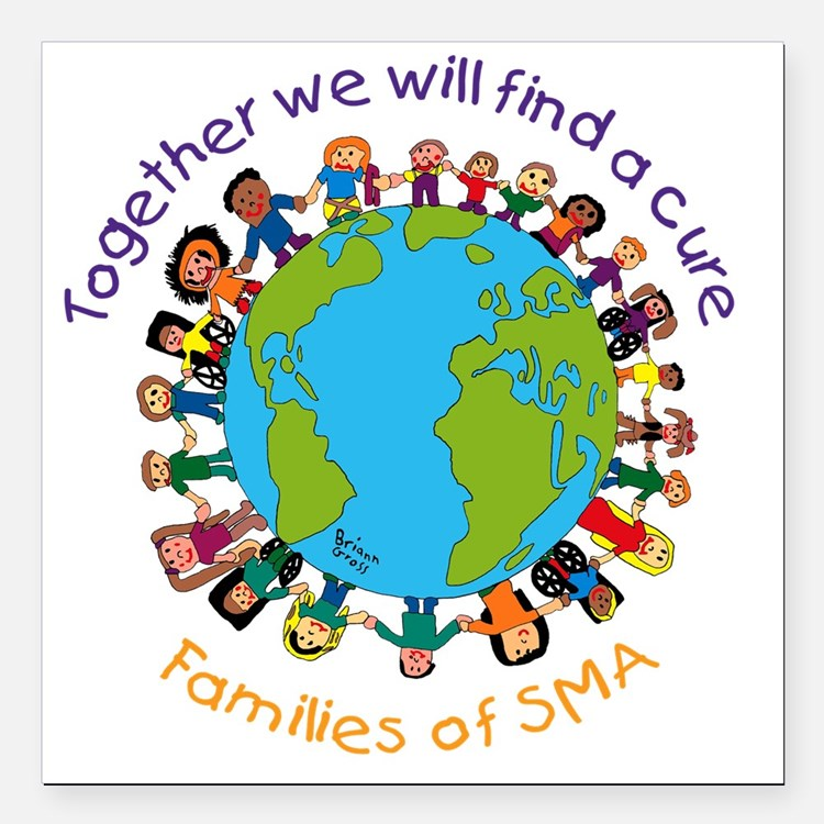 "Together_world_blk Square Car Magnet 3"" x 3"""