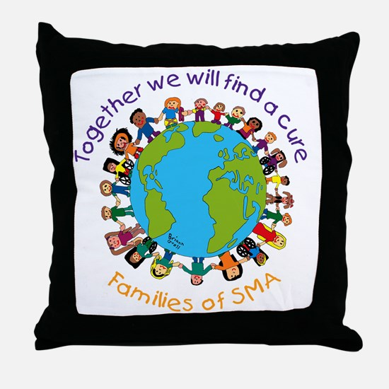 Together_world_blk Throw Pillow