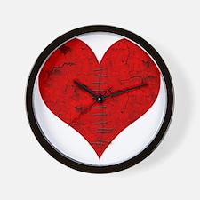 Stitched_Broken_Heart Wall Clock