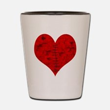 Stitched_Broken_Heart Shot Glass