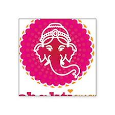 "Ganesh_T1 Square Sticker 3"" x 3"""