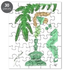 Genie with Green Palm Tree Puzzle