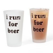 irunforbeer2sticker Drinking Glass