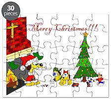 1christmasweatercolorfloor Puzzle
