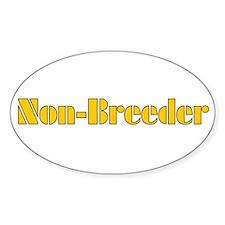Non-Breeder Oval Decal
