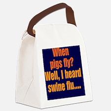 pigsfly_rnd2 Canvas Lunch Bag