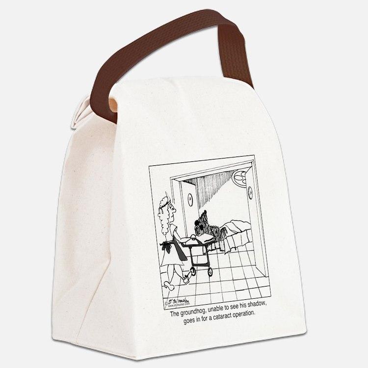 1974_groundhog_cartoon Canvas Lunch Bag