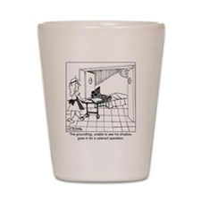 1974_groundhog_cartoon Shot Glass