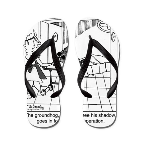 1974_groundhog_cartoon Flip Flops