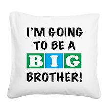 back Big Bro Square Canvas Pillow