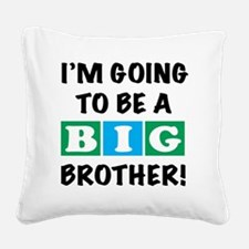 back Big Bro Square Canvas Pillow