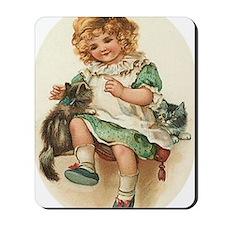 irish girl with cats Mousepad