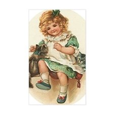irish girl with cats Decal
