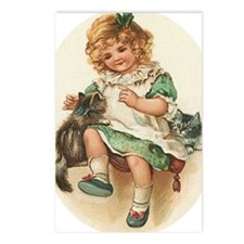 irish girl with cats Postcards (Package of 8)