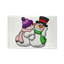 Snow Lovers Rectangle Magnet