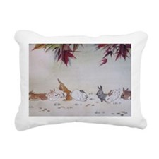 Rabbit Nap Rectangular Canvas Pillow