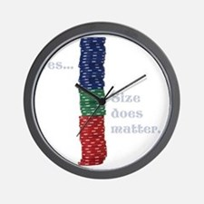 Size does matter poker graphic Wall Clock