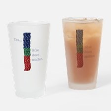 Size does matter poker graphic Drinking Glass