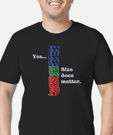 Size does matter poker Men's Fitted T-Shirt (dark)