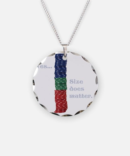 Size does matter poker graph Necklace