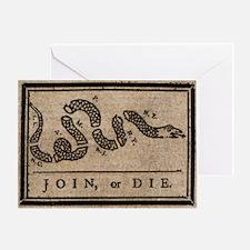 TShirt_Join_or_Die Greeting Card