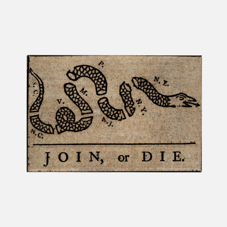 TShirt_Join_or_Die Rectangle Magnet