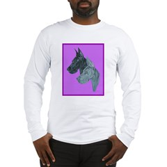 Great Dane Head Study Long Sleeve T-Shirt