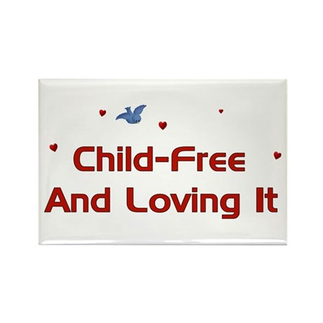 Child Free Rectangle Magnet (100 pack)