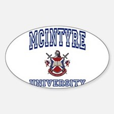 MCINTYRE University Oval Decal