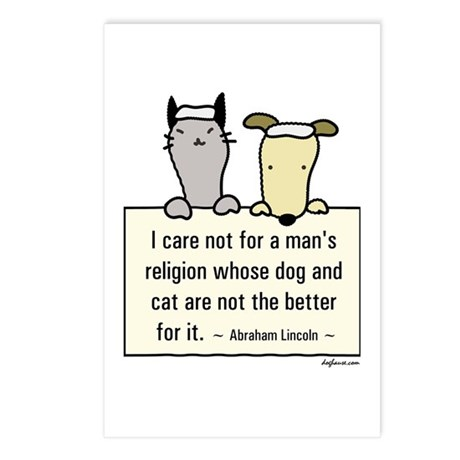 Lincoln's Religion Postcards (Package of 8)