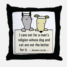 Lincoln's Religion Throw Pillow