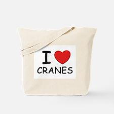 I love cranes Tote Bag