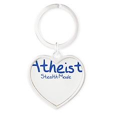 Atheist Stealth Mode - Royal Heart Keychain