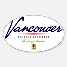 Vancouver Script W Sticker (Oval)