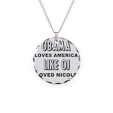 obamaoj Necklace Circle Charm