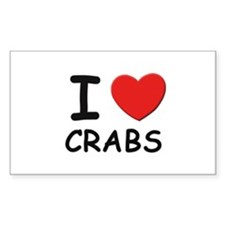 I love crabs Rectangle Decal