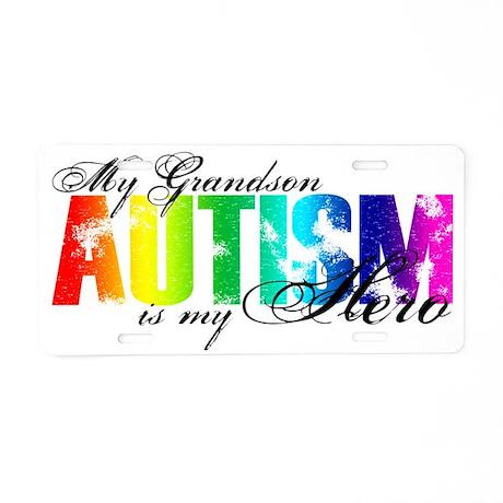 grandson Aluminum License Plate
