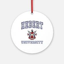 HEBERT University Ornament (Round)