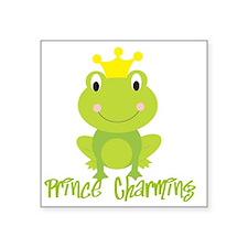 "frog prince Square Sticker 3"" x 3"""