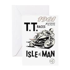 isle of man tt races (1961) Greeting Card
