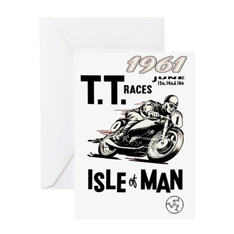 isle of man tt races (1961) Greeting Card by Admin_CP29693907