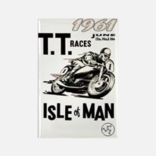 isle of man tt races (1961) Rectangle Magnet